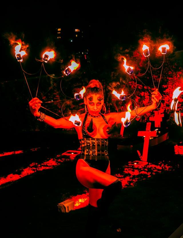 Fire juggler Devil Women