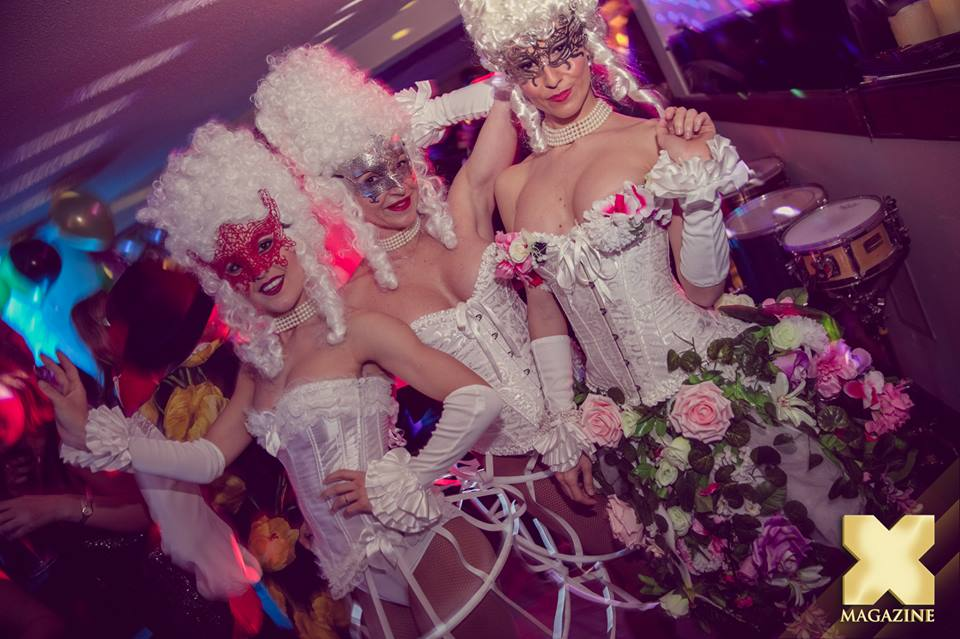Burlesque. White party outfits